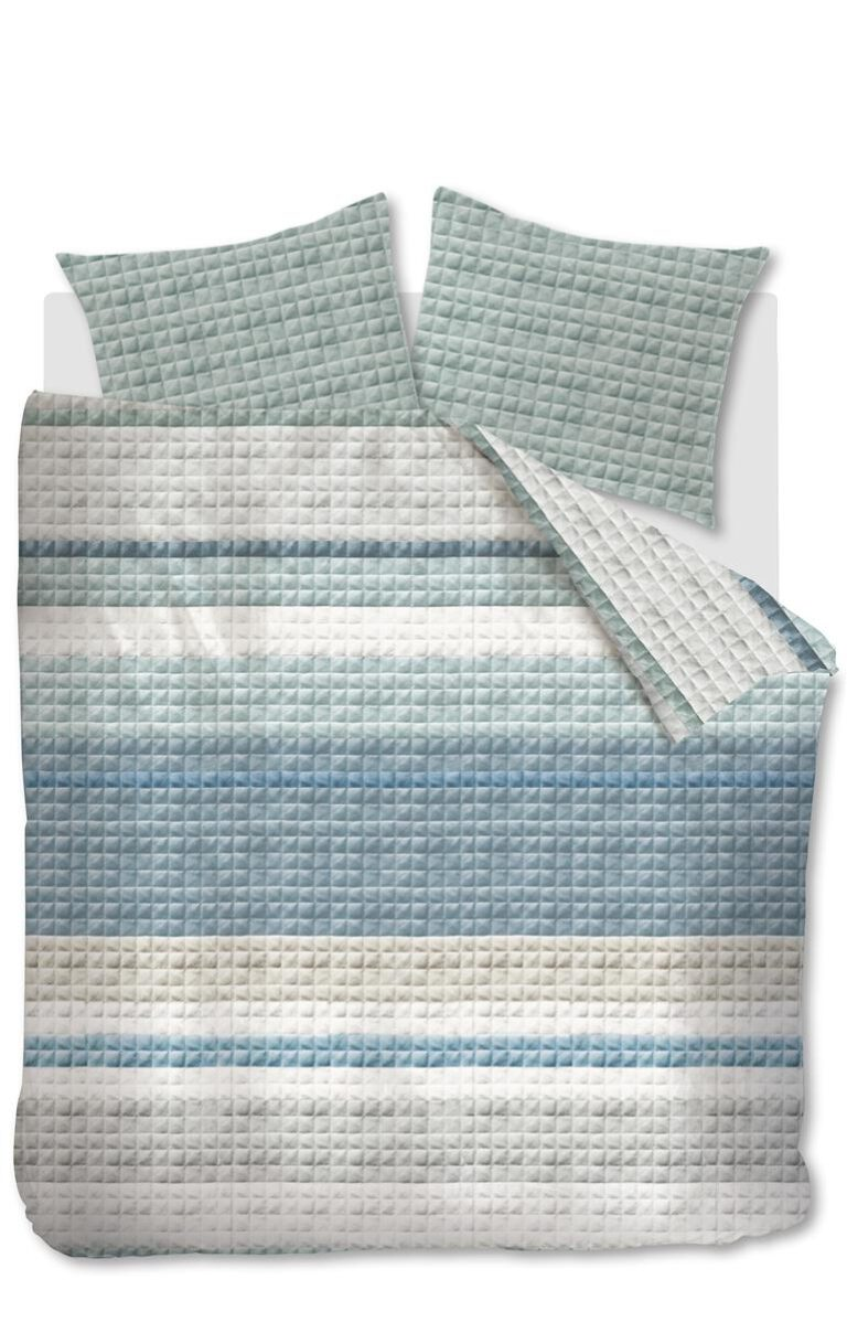 At Quilted Squares Blue
